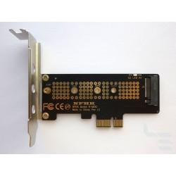 Адаптер M.2 PCI-E SSD към PCI-E x1 конектор, нисък профил