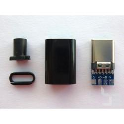 Type-C USB букса (конектор мъжки) за монтаж към кабел, v2