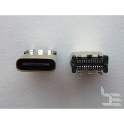 Type-C USB конектор TC-5, женски, 2x12 пина, 9.3мм височина, вертикален монтаж