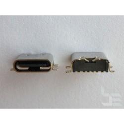 Type-C USB конектор TC-7, женски, 1x6 пина, за монтаж на платка