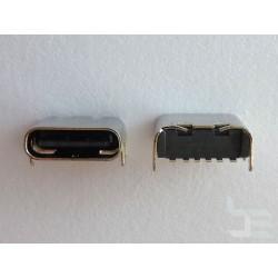 Type-C USB конектор TC-10, женски, 1x6 пина, за монтаж на платка