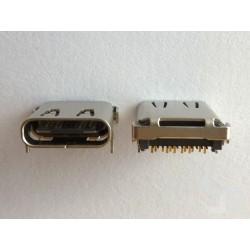 Type-C USB конектор TC-12, женски, 6+6+12 пина, за монтаж на платка