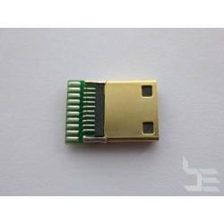 Mini HDMI конектор (букса) HD-11 за монтаж към кабел