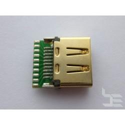 HDMI конектор (букса) HD-12 за монтаж към кабел