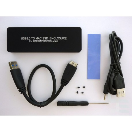 Адаптер Apple 12+16 пина SSD към USB 3.x с кутия
