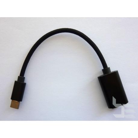 OTG USB кабел Type-C (М) към Type-A (Ж), USB 3.x, 15см