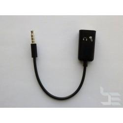 Аудио кабел сплитер 3.5мм 4-пинов (М) към 2 x 3.5мм 3-пинов (Ж), 15см