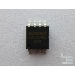 Чип Winbond W25Q128FVSIG (SOIC8), 128Mb, serial NOR flash memory, нов