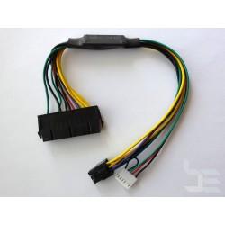 Адаптер 24-пинов към 2бр. 6-пинов захранващ конектор, за HP (Elite, ProDesk), 30см