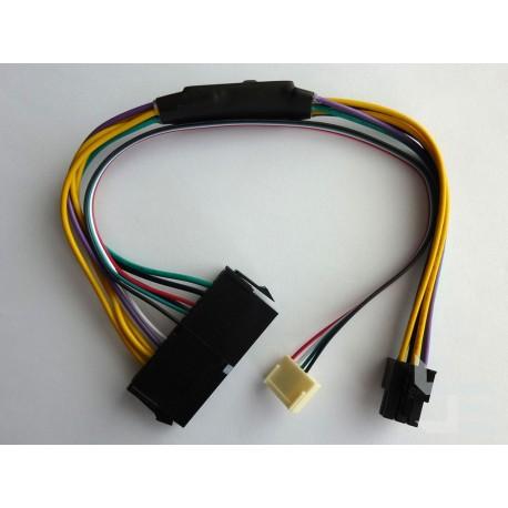 Адаптер 24-пинов към 2бр. 6-пинов захранващ конектор, за HP (Z220, Z230), 30см