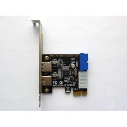 USB 3.x контролер 2+2 USB порта към PCI-E x1 конектор