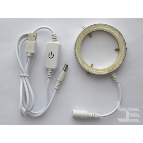 LED осветление за микроскоп, регулиране на яркостта, USB захранване