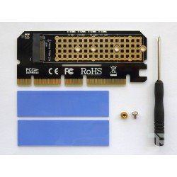 Адаптер M.2 PCI-E SSD към PCI-E x16 конектор