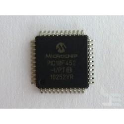 Чип Microchip PIC18F452-I/PT (TQFP44), microcontroller with analog-to-digital converter, нов